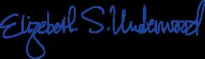 Signature of Elizabeth S. Underwood